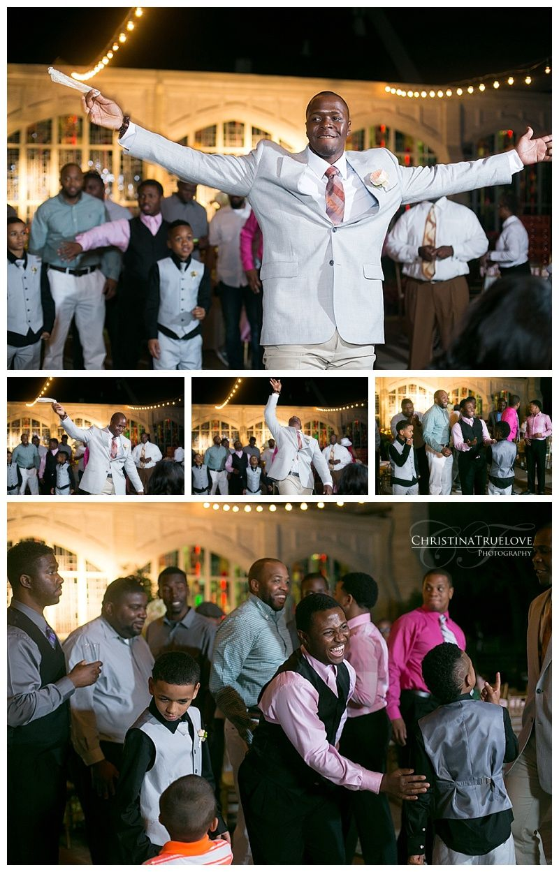 Outdoor reception for a beautiful african american wedding at the