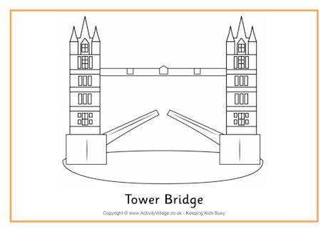 Tower Bridge Colouring Page 2 Color Tower Bridge