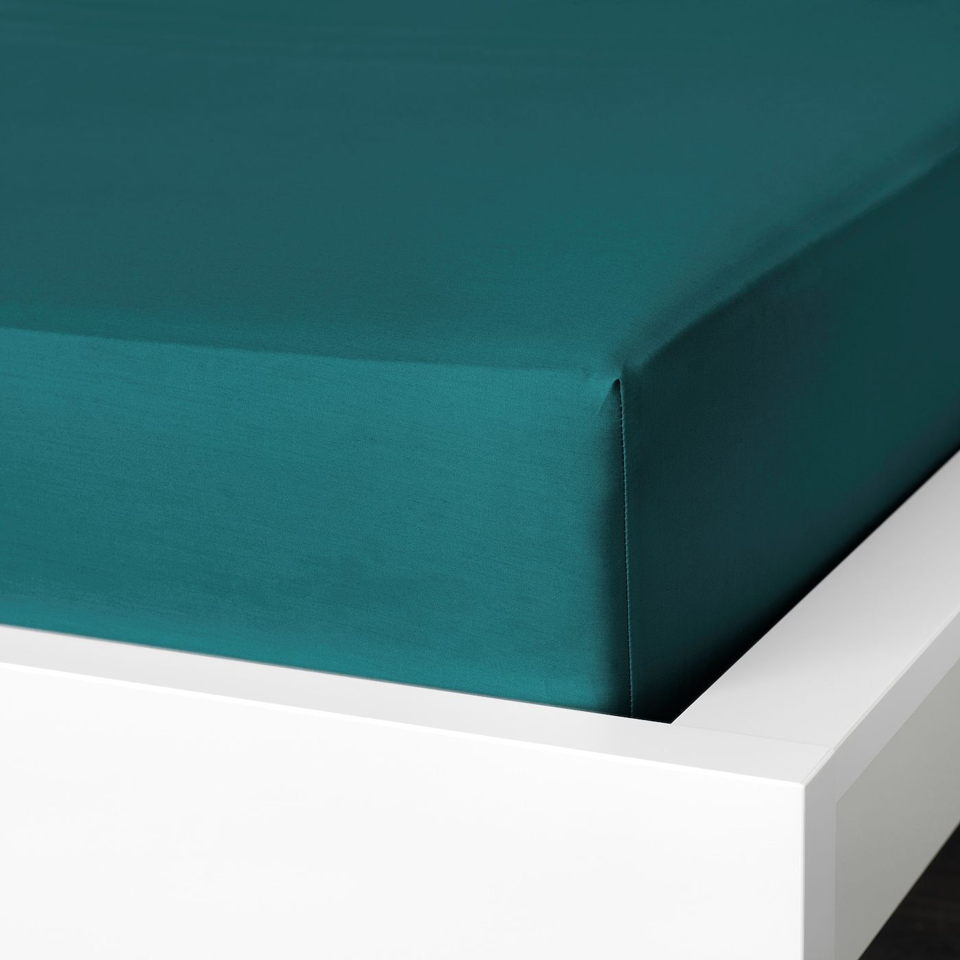 Nattjasmin Fitted Sheet Dark Green Queen In 2020 Ikea Linen