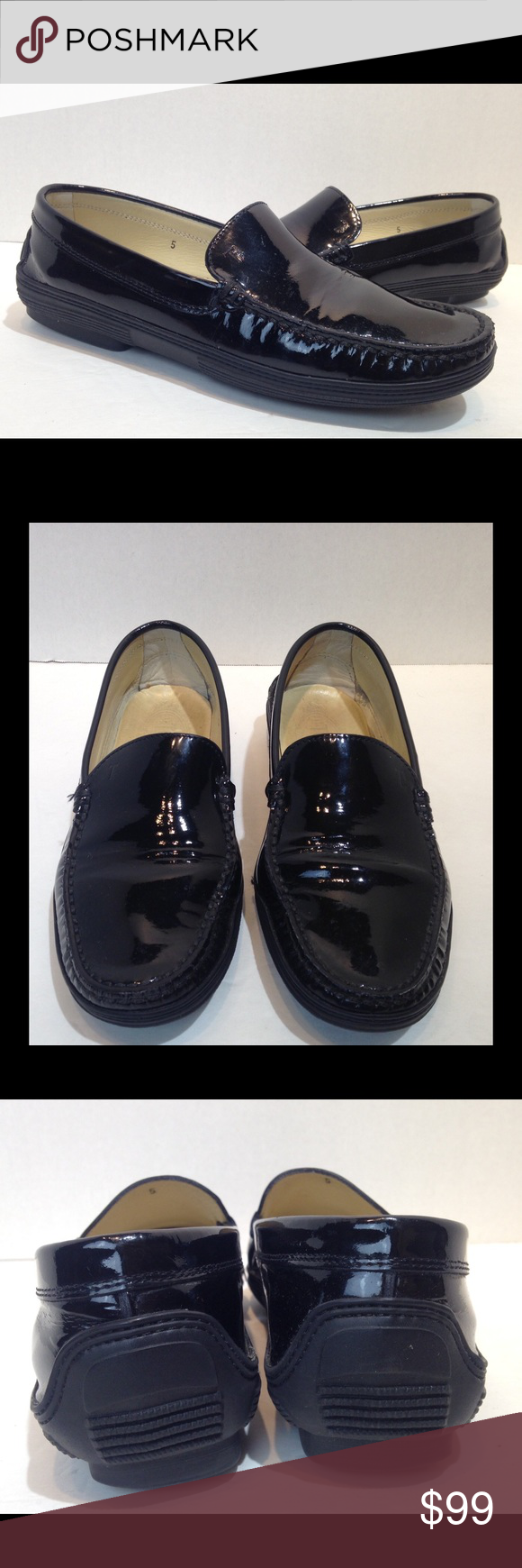 Black loafers, Patent leather loafers