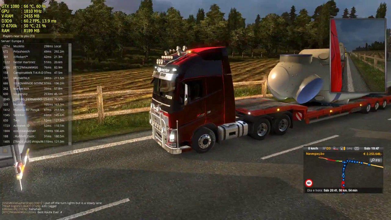 Euro Truck Simulator 2 Multiplayer - Super congestionamento