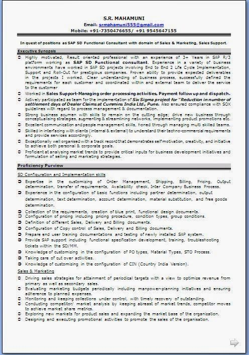 curriculum vitae sample format Sample Template Example ofExcellent - resume requirements