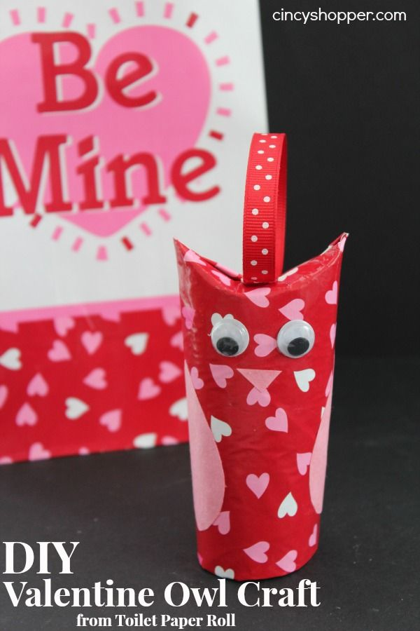 Diy Valentine Owl Craft From Toilet Paper Roll Valentines