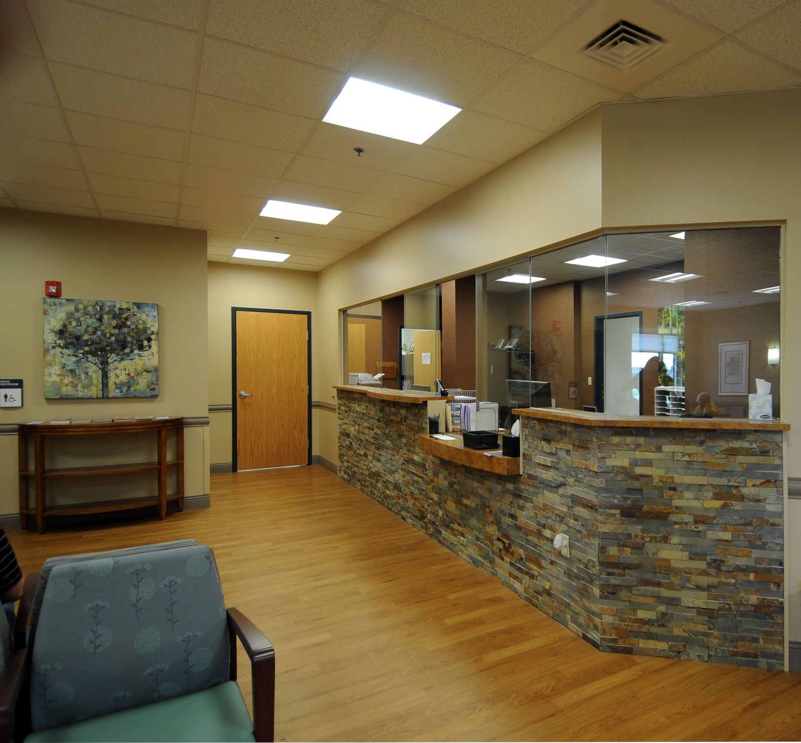 medical office reception area march westin company inc jerry dove medical office building