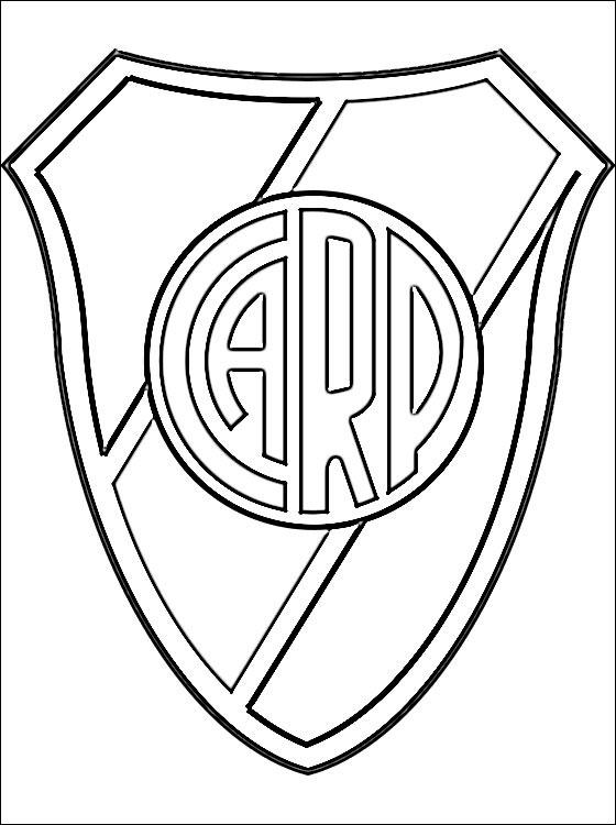 Escudo Del Club Atlético River Plate Para Colorear Dibujos Para Colorear Futbol Para Colorear Escudo Mano Para Colorear