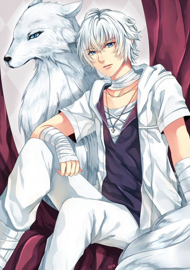 Anime Boys Guys Names Pets White Hair Wolves