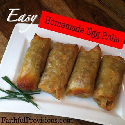 Easy Egg Rolls Recipe Easy Egg Roll Recipe Egg Roll Recipes Food Recipes