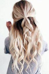 Diese einfachen Frisuren für die Schule sind wirklich atemberaubend #easyhairstylesforschool #cu …, #beauti …