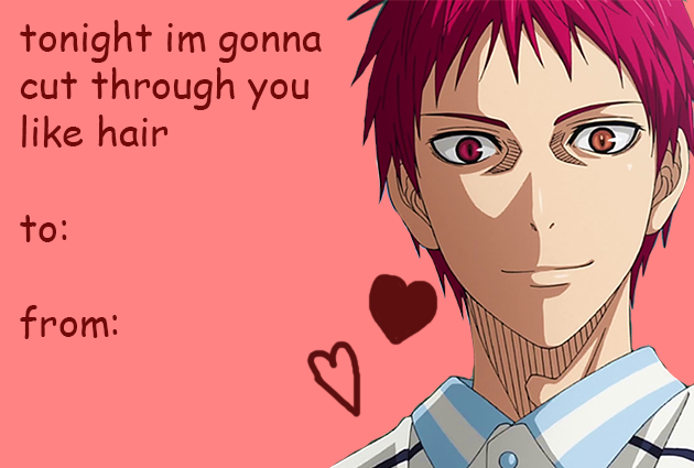 Browse Seijuro Akashi Kuroko No Basket Collected By Chin Miharu And Make  Your Own Anime Album. Find This Pin And More On Anime Valentines Day Card  ...