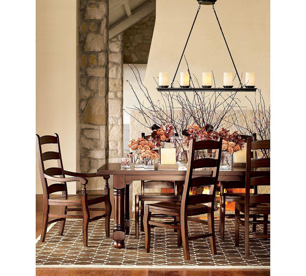 Pottery barn rustic dining room - Room