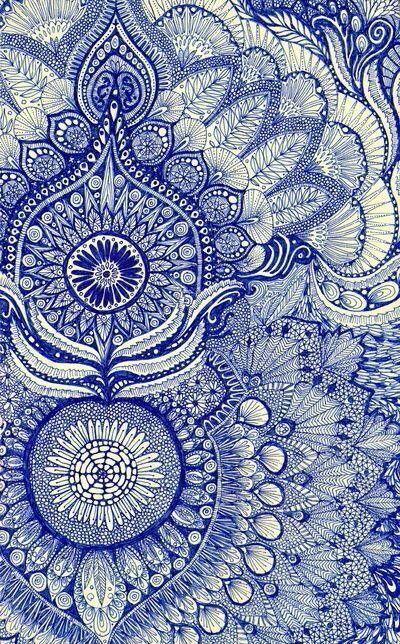 Liberty Fabric Blaue Kunst Kunstproduktion Blau Und Weiss