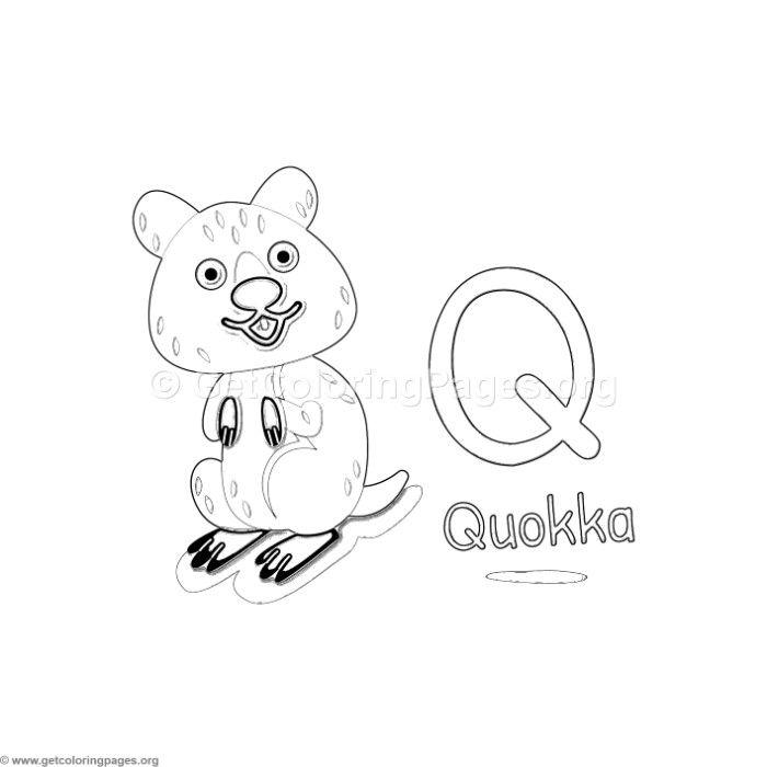 Download This Free Animal Alphabet Letter Q Coloring Pages #coloring  #coloringbook #coloringpages #