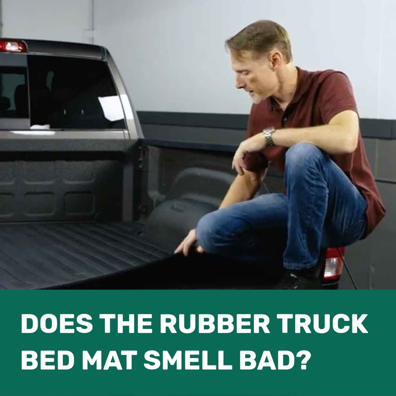 Does the rubber truck bed mat smell bad? Truck bed mat