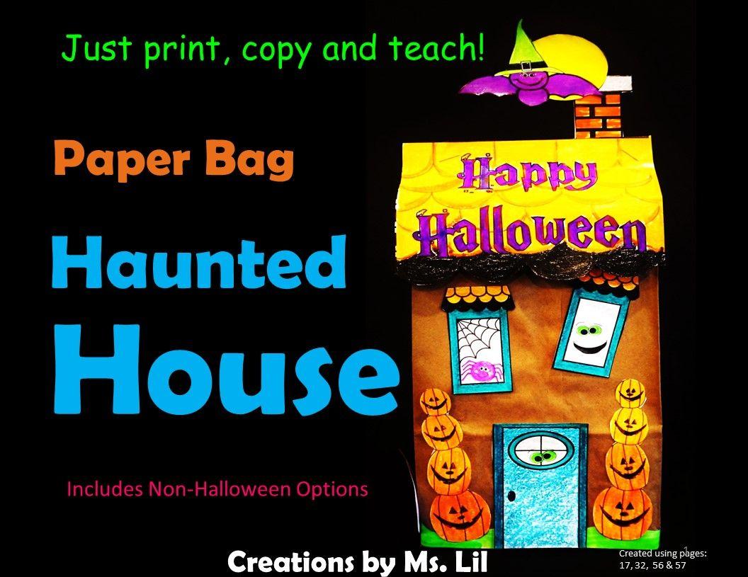 Halloween Haunted House Craft Halloween Craft Paper Bag Crafts