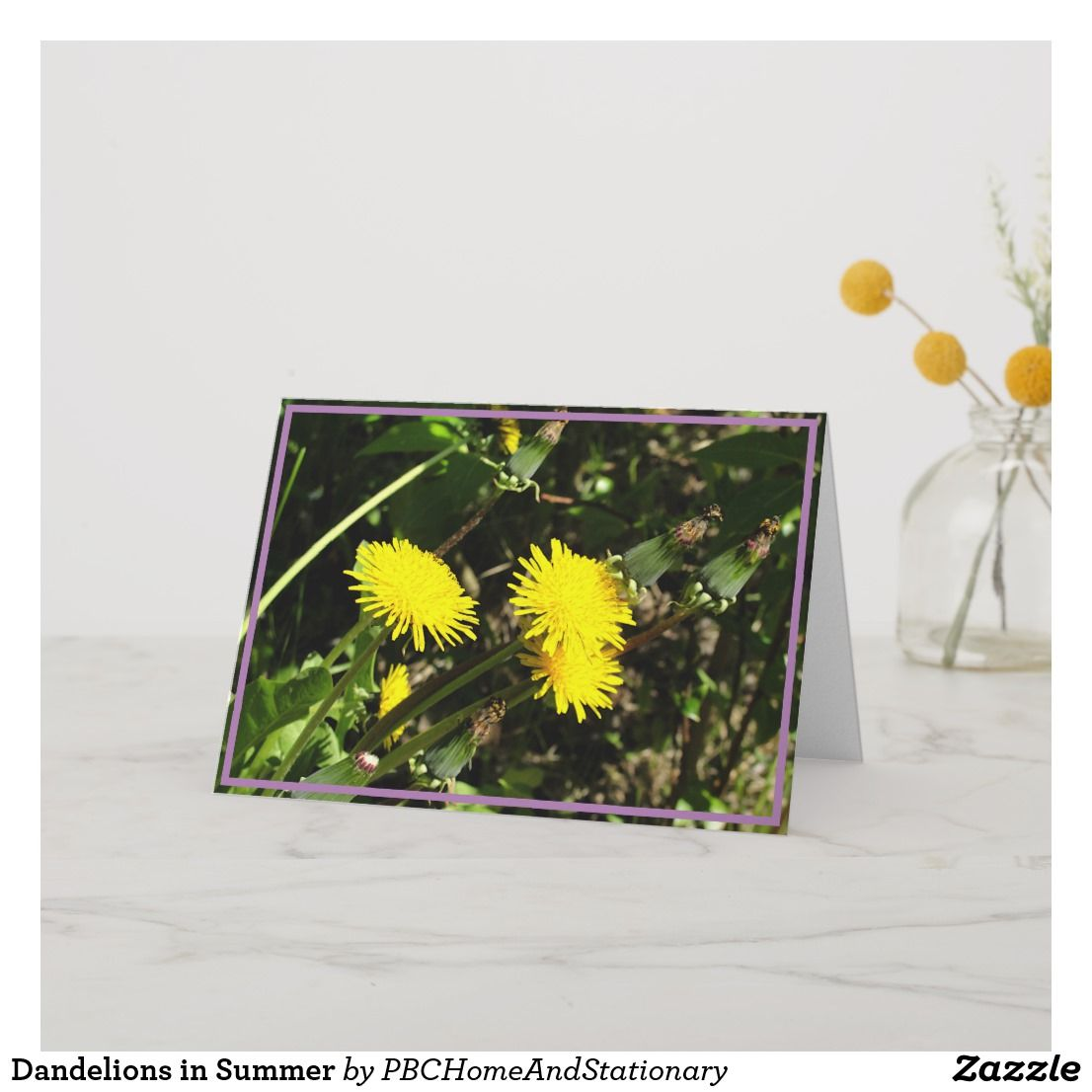 Dandelions In Summer Card Zazzle Com Summer Cards Unique Greeting Cards Custom Greeting Cards
