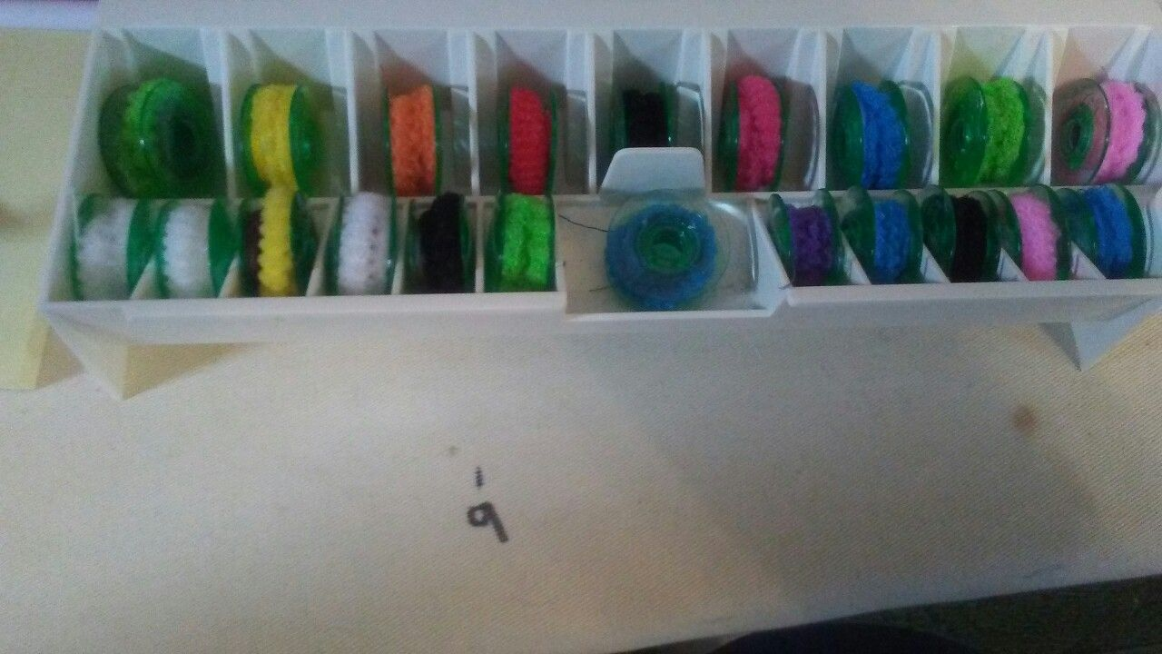 SEWING TIP: How to hold thread tails on bobbins.