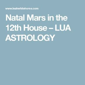 Natal Mars in the 12th House | Know yourself, love yourself