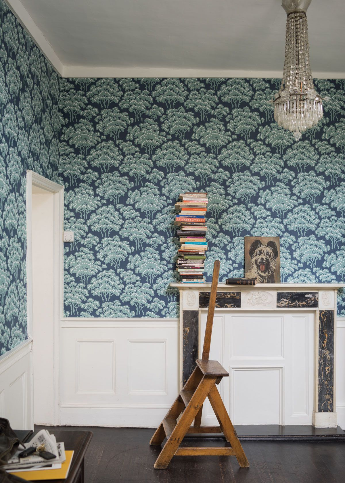Farrow and ball paint online - Hornbeam Wallpaper From The Latest And Greatest Collection By Farrow Ball With Hornbeam Trees Printed In Sea Green On An Indigo Ground Buy Online Today