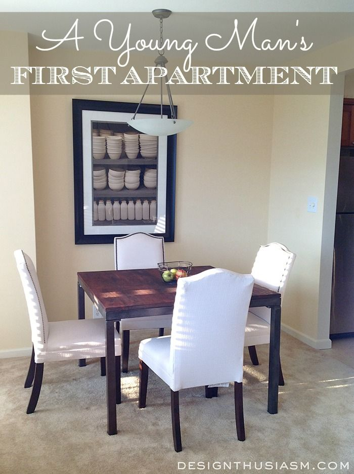 Bachelor Apartment Part 2: Chic Small Dining Room Ideas | Apartments,  Budgeting And Decorating