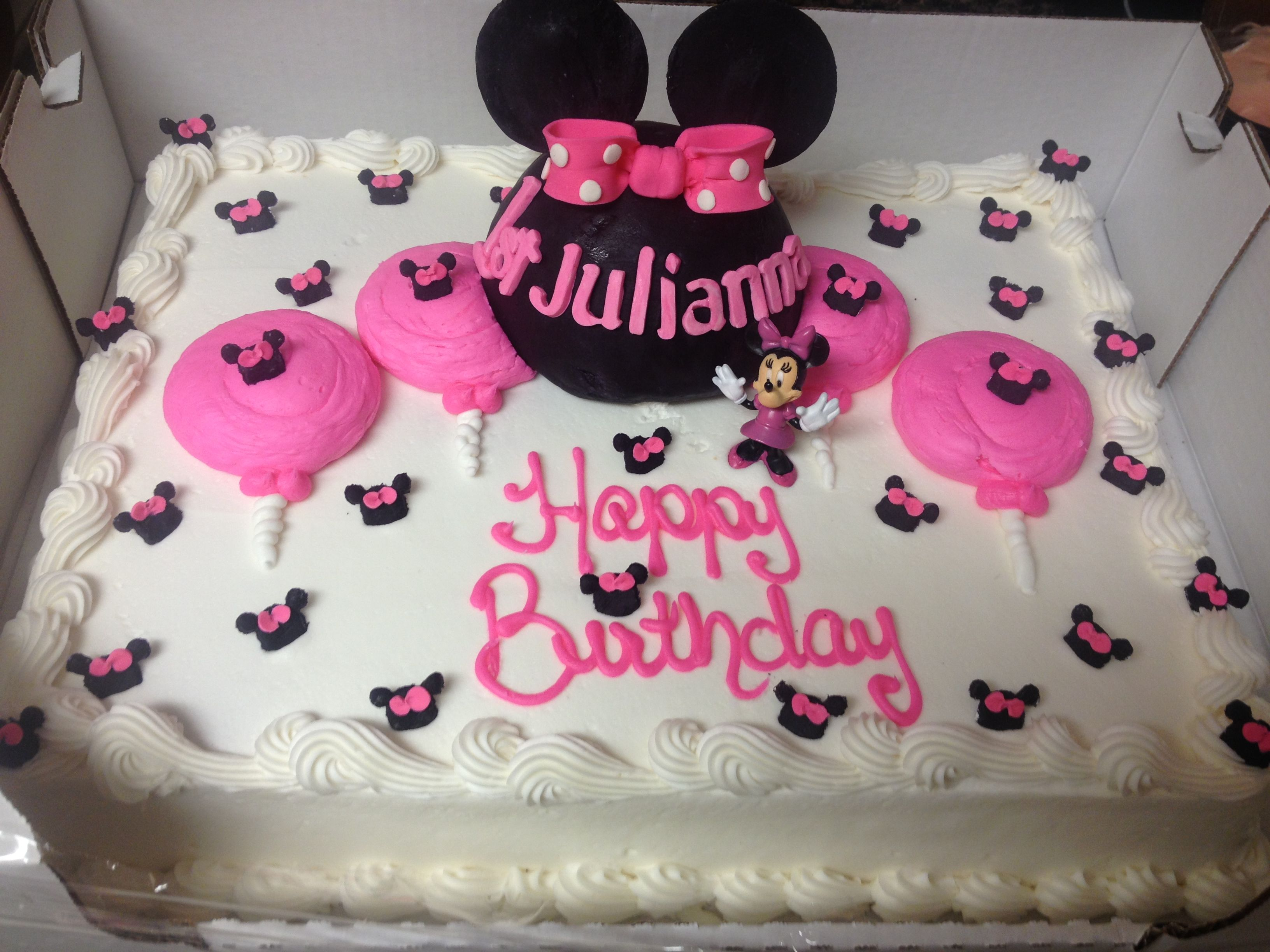 Cake from Costco that was Minnie fied