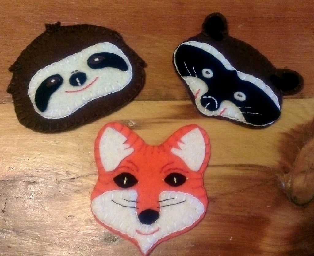 Free Felt Patterns for Cute Animals Template - a raccoon, a super ...