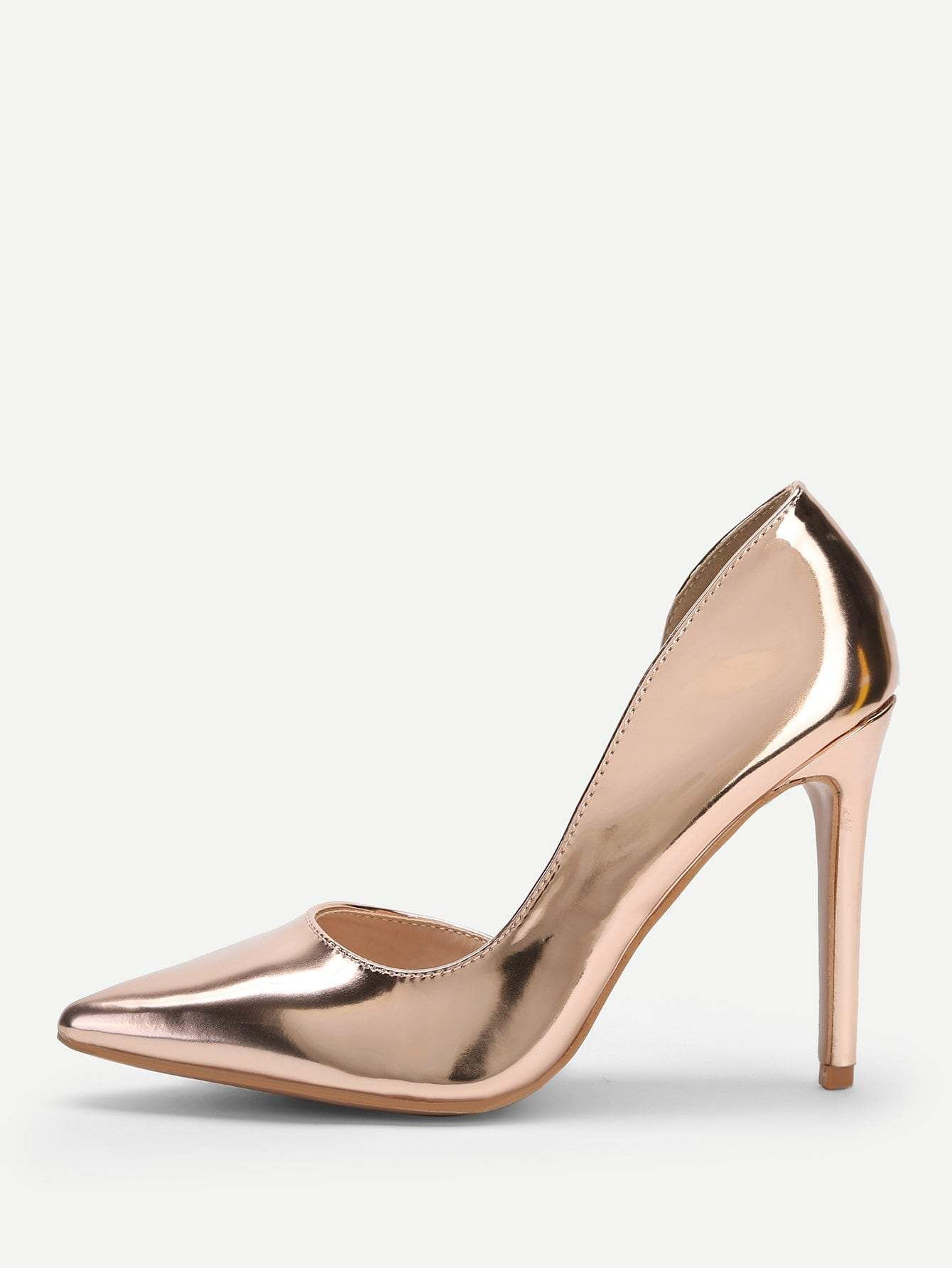 41cdc8c97d73 Metallic Pointed Toe Stiletto Heels. Find this Pin and ...