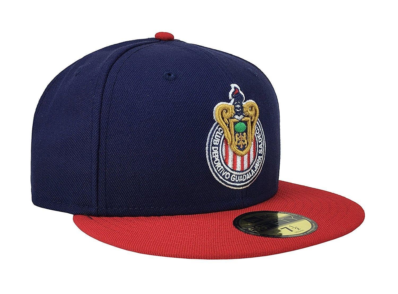f740cebcc56 59Fifty Hat Chivas De Guadalajara Liga MX Soccer Navy Blue Red Cap -  C812NBUDPCU - Hats   Caps