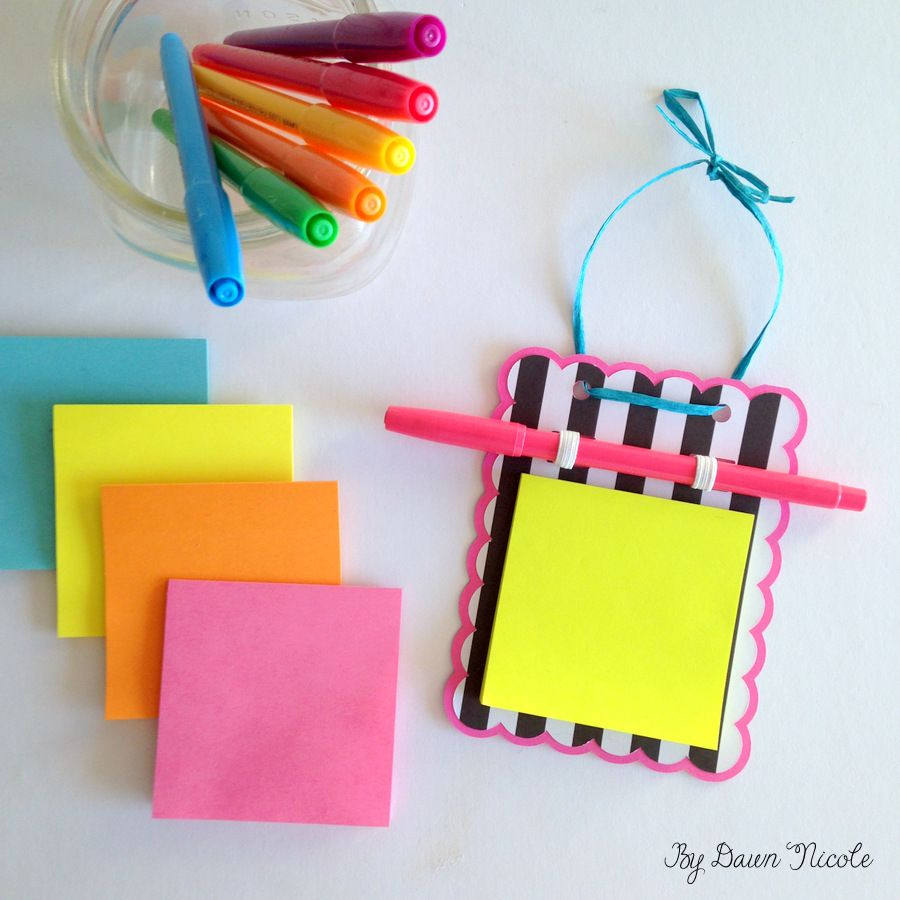 Diy Post It Note Holder Post It Note Holders Post It Notes Post It Note Crafts Post it note holder template
