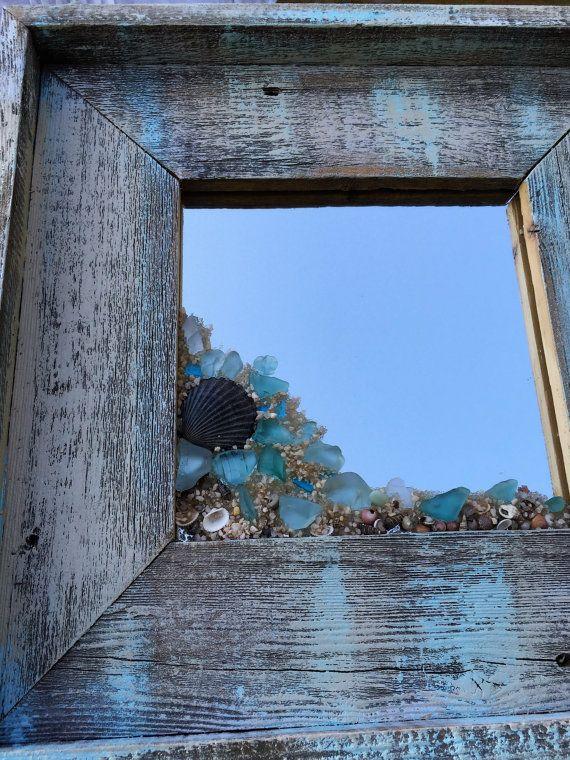 Miroir en verre de mer par beachcreation sur Etsy