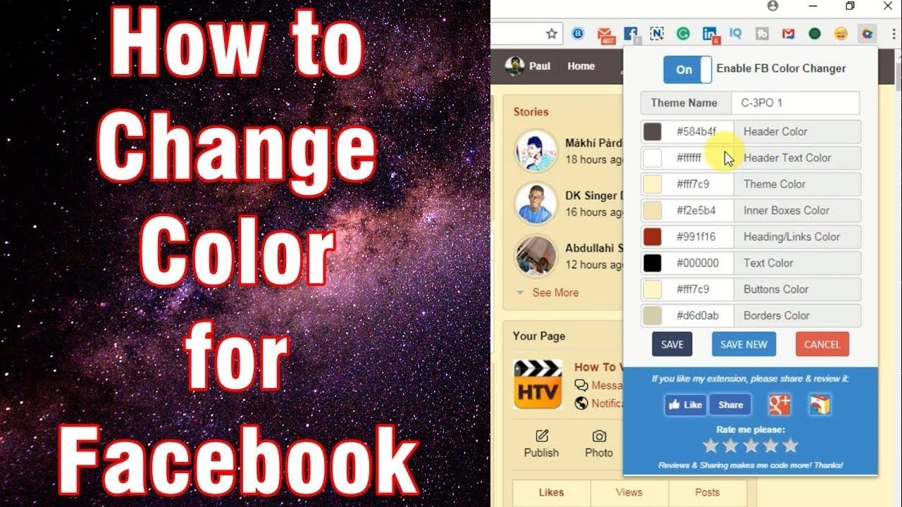Color Change For Facebook How to Change Background Color