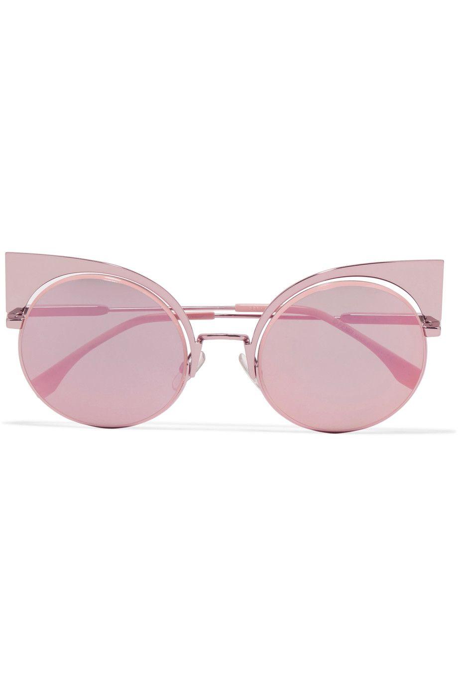 Fendi   Cat-eye metal mirrored sunglasses   NET-A-PORTER.COM ... 54c6ba5cca