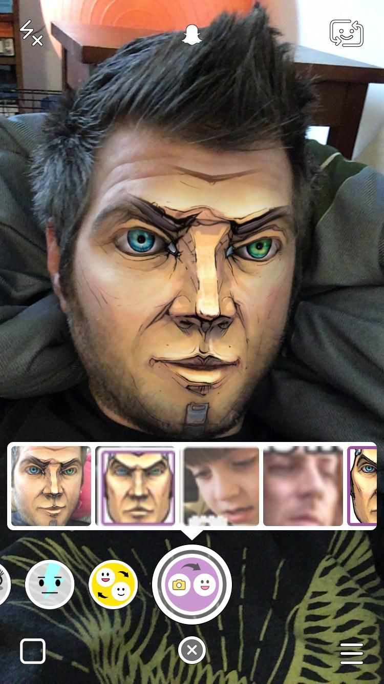 Snapchat S Face Swap From Camera Roll Handsome Jack