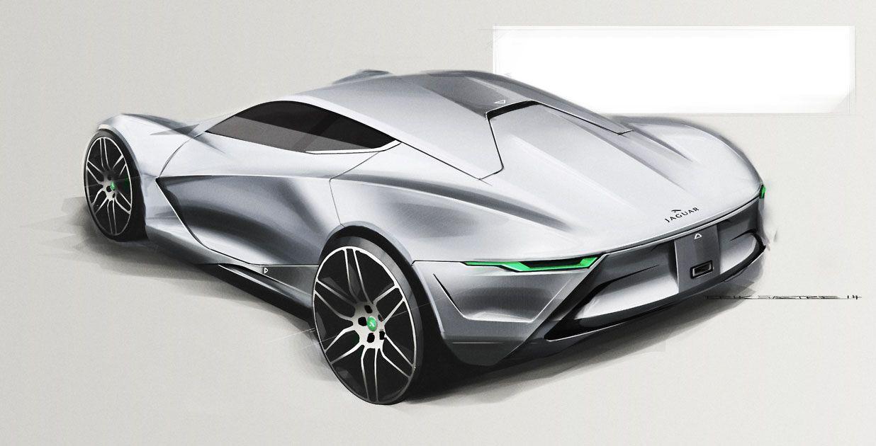 Jaguar Concept Design Sketch By Erik Saetre Concept Cars Car