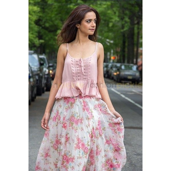 Fara Long Print Skirt ❤ liked on Polyvore featuring skirts, long floral maxi skirt, long summer skirts, summer maxi skirts, long patterned skirt and long floral skirts