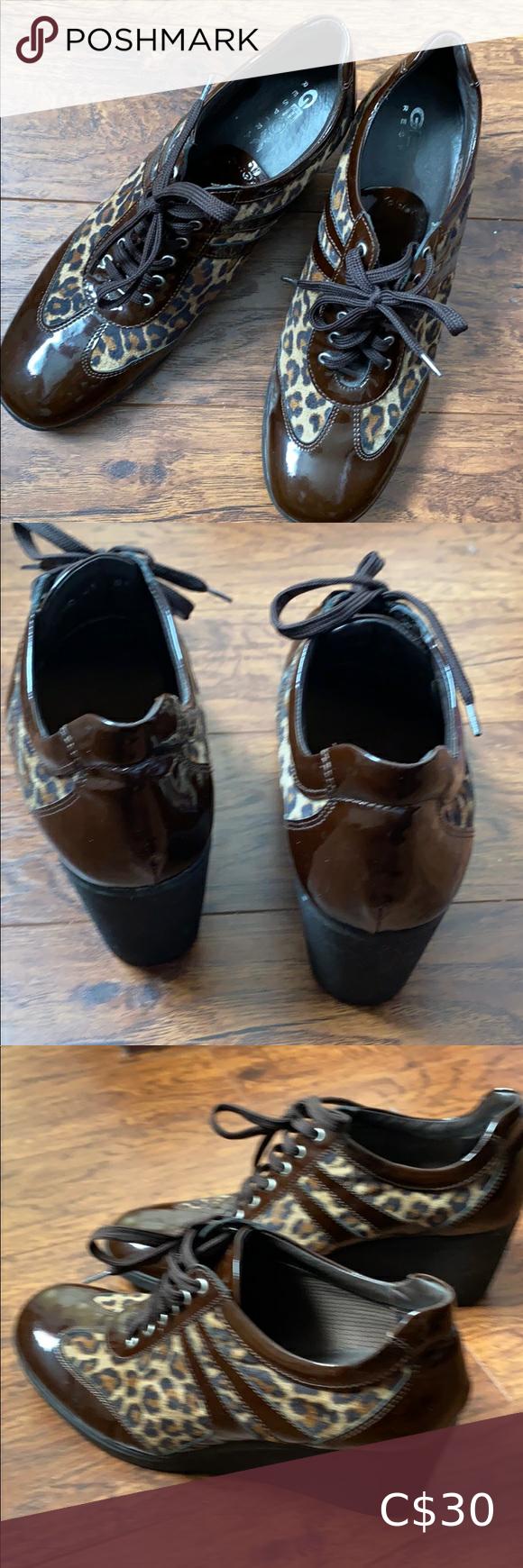 geox leopard print shoes