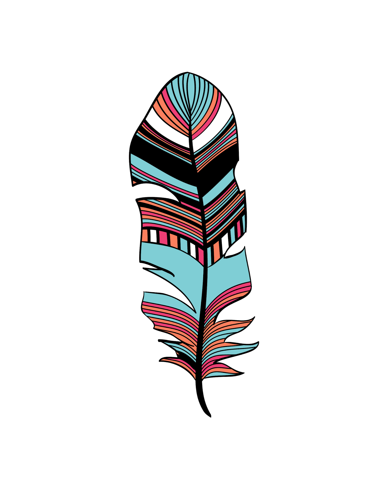 Oh So Lovely Free Printables Abstract Feathers