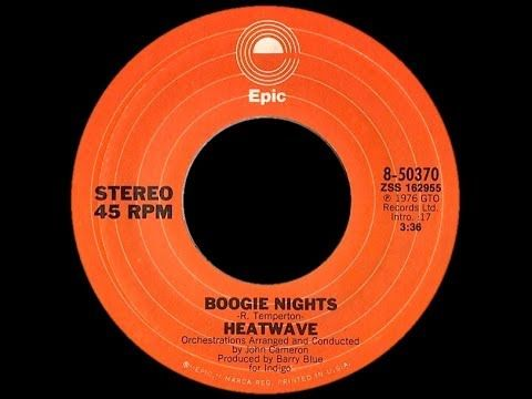 Heatwave Boogie Nights 1976 Extended Disco Purrfection Version Youtube Play That Funky Music Boogie Nights Music Hits