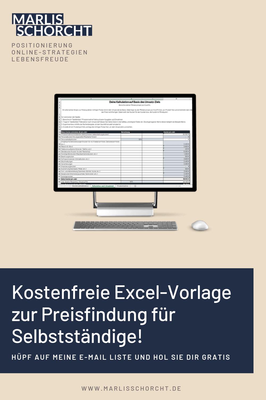 Kostenfreie Excel Vorlage Zur Preisfindung Fur Selbststandige Excel Vorlage Vorlagen Geschaftsplane