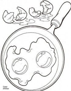 Breakfast coloring page Coloring pages Pinterest Free