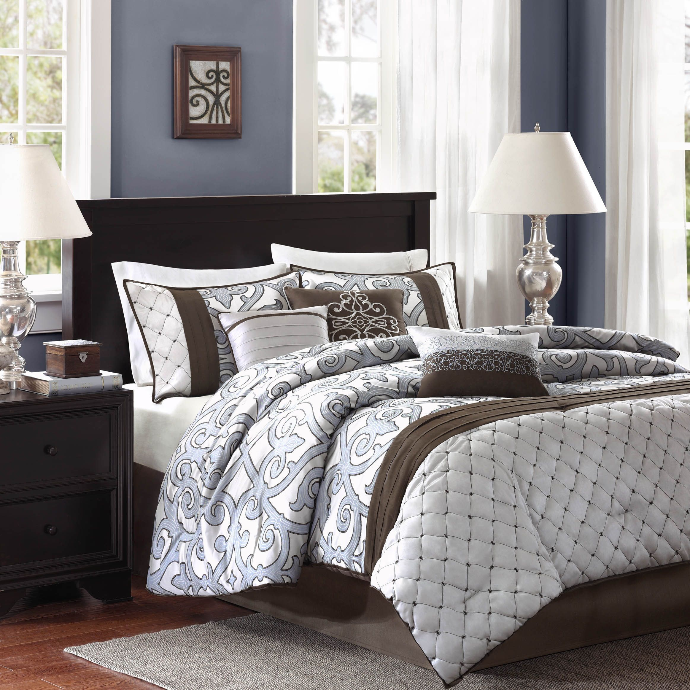 Winchester 5 Piece Queen Bedroom Set: Madison Park Winchester 7-piece Comforter Set (Queen