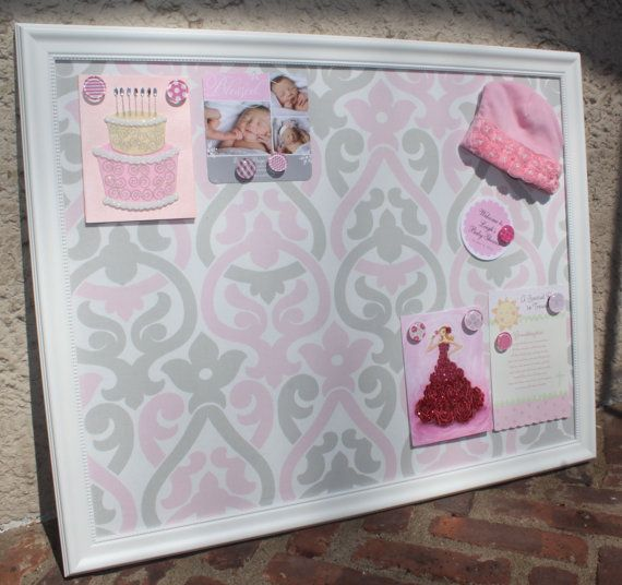 XL White Framed Fabric CORK Board or Framed MAGNET Board Bulletin ...