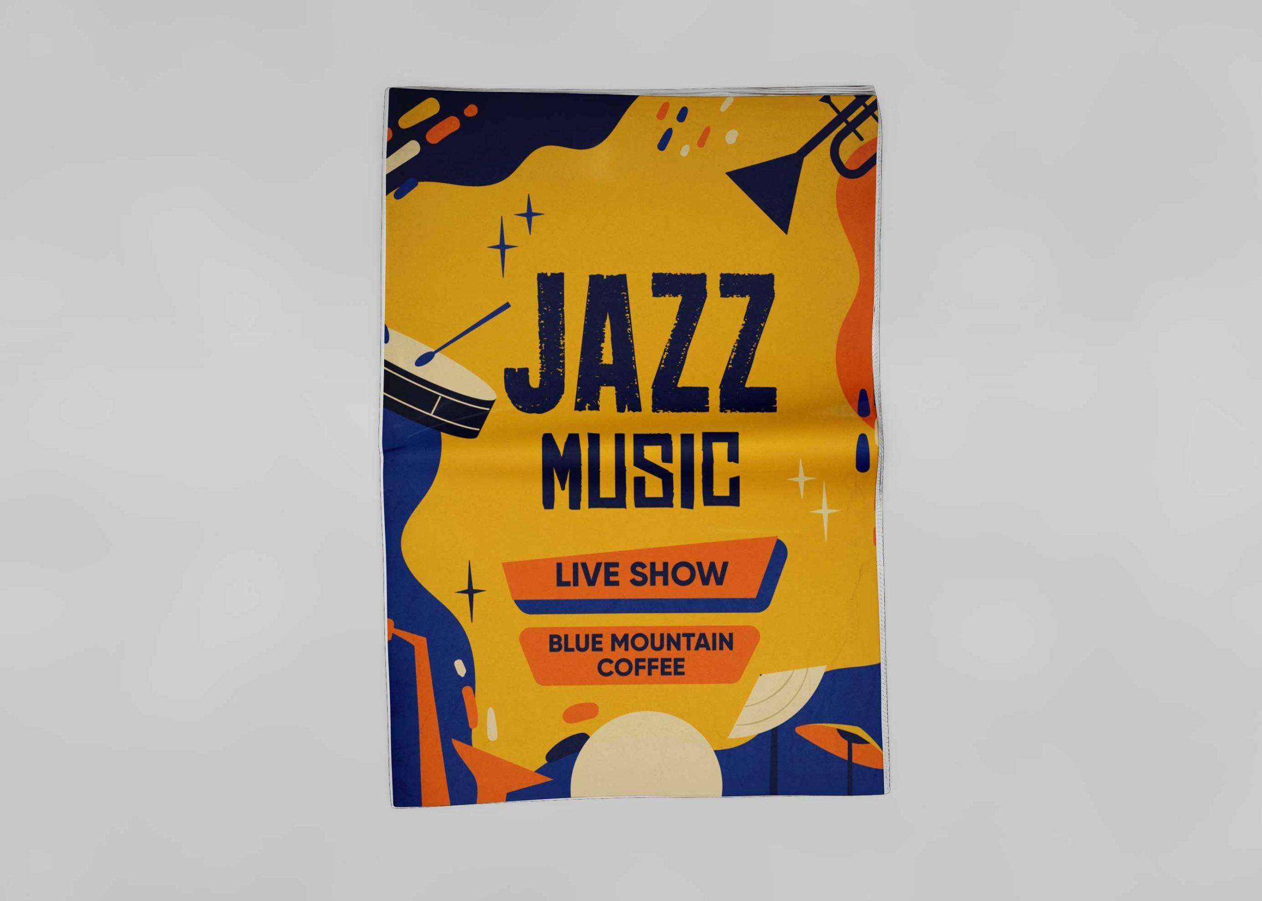Jazz Music Flyer Free PSD Mockup in 2020 Flyer mockup