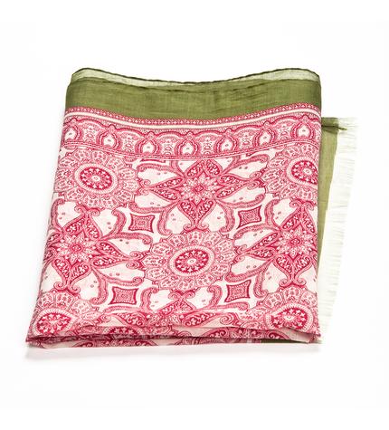 Schal Felce. Baumwolle und Silk.