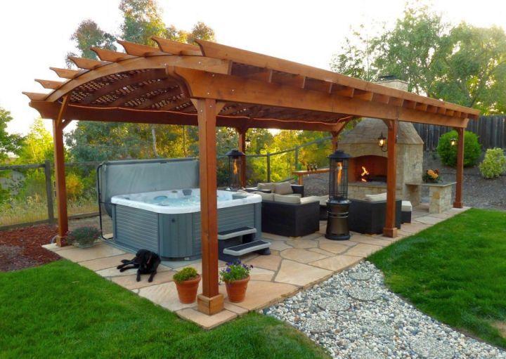 19 Modern Pergola Kit Designs For Your Outdoor Shade Hot Tub Backyard Backyard Gazebo Backyard Patio