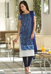1b5c6e740fe W Blue Printed Kurta Online Shopping Store | Thumbs Up | Women ...