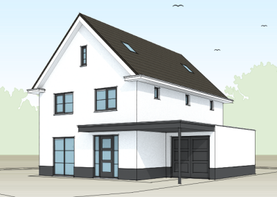 Modern witte woning met entree aan voorzijde huis in 2018 pinterest