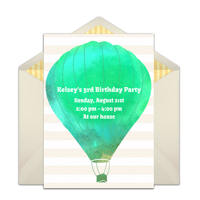 free up up and away invitations 1st birthday ideas pinterest