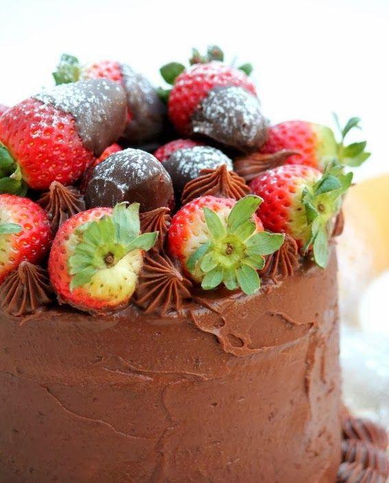 Sugar: Torta al cioccolato-nutella e fragole