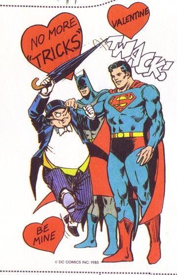 Vintage penguin batma and superman comic book valentines art i vintage penguin batma and superman comic book valentines voltagebd Choice Image