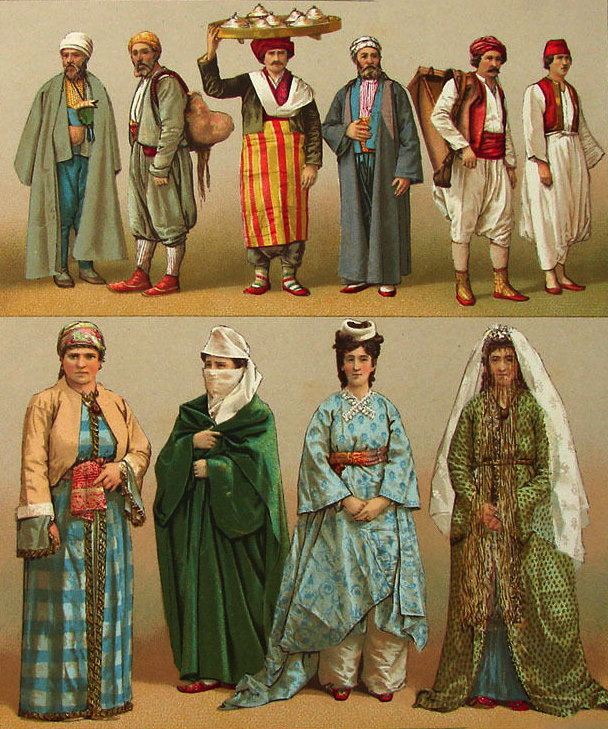 19th Century Ottoman Clothing Minyaturler Turkey Costume